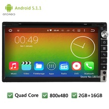Quad Core 16GB Android 5.1.1 2Din 3G WIFI RDS FM Universal Car DVD Player GPS Stereo Radio PC Screen For Nissan 350z tiida NV200