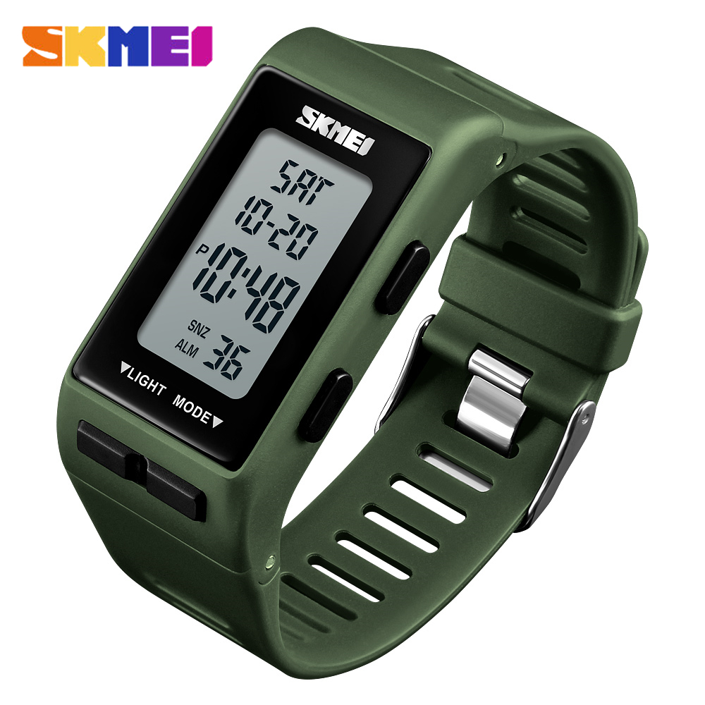SKMEI Digital Watch Bracelet Clock Countdown Waterproof Women Relogio Masculino Fashion