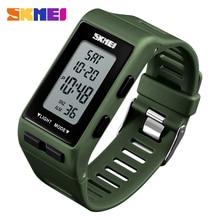 лучшая цена SKMEI Luxury Bracelet Sports Watches Men Women Fashion Digital Watch Waterproof Clock Countdown Wristwatches relogio masculino