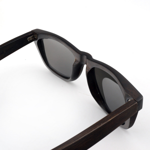 Image 5 - BOBO BIRD AG005a Handmade Ebony Wood Sunglasses Women Men Brand Design Vintage Fashion Glasses Gray Polarized Lens Accept OEM