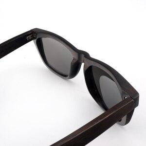 Image 5 - BOBO BIRD AG005a اليدوية خشب الأبنوس نظارة شمسية خشبية النساء الرجال العلامة التجارية تصميم خمر نظارات الموضة رمادي عدسات قطبية قبول OEM