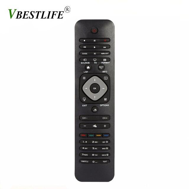 VBESTLIFE אוניברסלי חכם IR שלט רחוק עבור פיליפס LCD/LED 3D חכם טלוויזיה טלוויזיה בקר שחור חכם בית