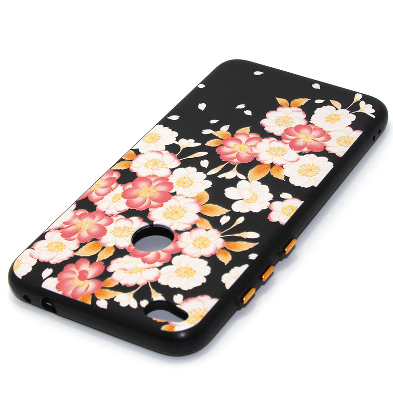 3D Relief flower silicone case huawei p8 lite 2017 honor 8 lite (17)