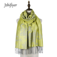 Jzhifiyer jacquard scarf rayon paisley floral mujer pashmina cotton women cape scarf shawl luxury brand shawl pashmina butterfly wing cape pashmina