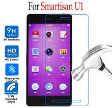 2pcs Premium thin For Smartisan U1 Tempered Glass For Smartisan U1 YQ601 Screen Protector Cover Protective Film Case Guard(China)