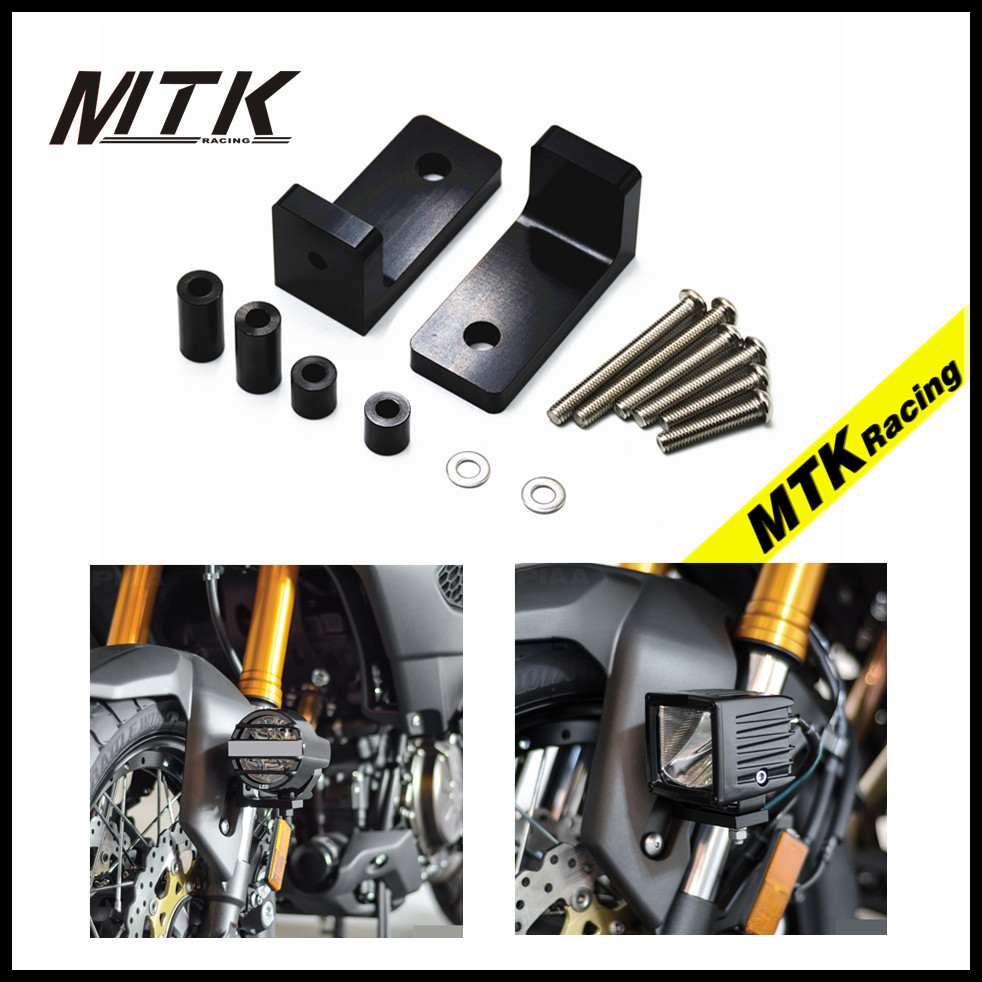 MTKRACING M6 Lower Fork Mount Kit with L Lights Bracket For Suzuki V-Strom1000/ Adventure V-Strom 650/XT Hayabusa GW250 SFV650 suzuki dl650a v strom б у