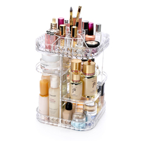 ANFEI Lipstick Holder Display Stand Diamond Texture Clear Acrylic Cosmetic Organizer Makeup Case Brushes Jewelry Cosmetic C214 9