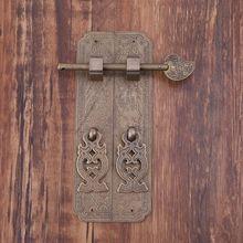 Чистая медь античные дверные ручки комплект Ретро Китайский Стиль ворота тянет мебель