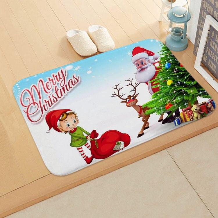 Christmas Door Mat Floor Carpet Outdoor Rugs Room
