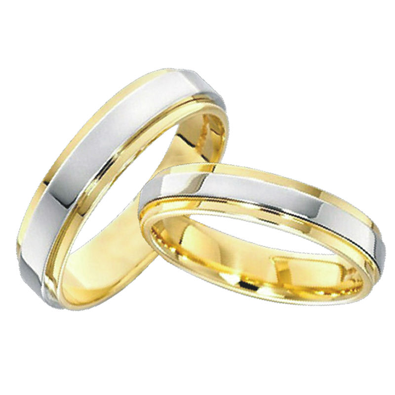 Classic Anillos Gold Color Jewelry Lovers Engagement Mens And Womens Wedding  Band Promise Rings Sets For Couples