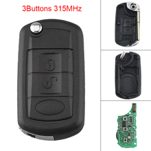 315MHz 3 Buttons Portable Keyless Uncut Flip Remote Key Fob PCF7941 Chip for Land Rover 1999-2011 / Discovery LR3