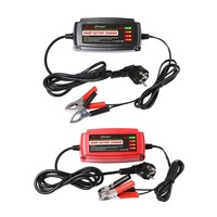 12V 5A Lead Acid Battery Charger Multiple Protect Systems Vehicle Supplies 4 Stage Switching Mode LED Indicator Light EU Plug