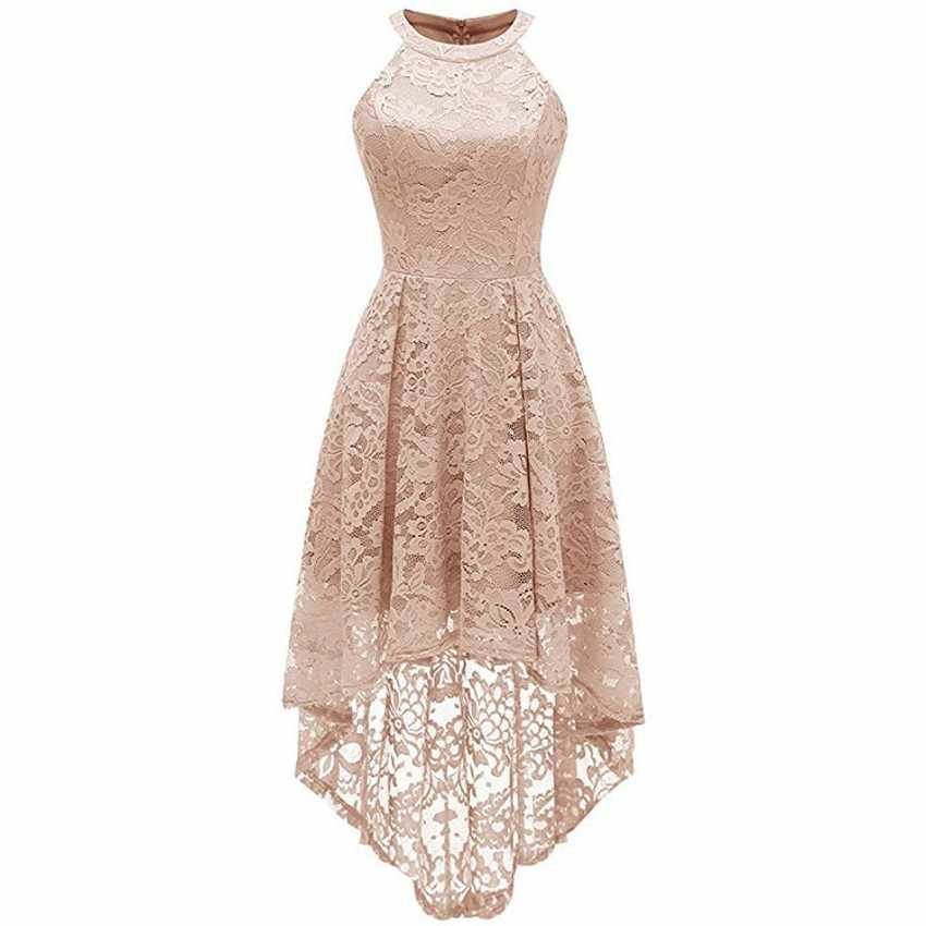 Women New Year Clothes Teenager Lace Dress 2019 Elegance Asymmetrical Dress  For Christmas Girl Princess Party c8df75005ddc