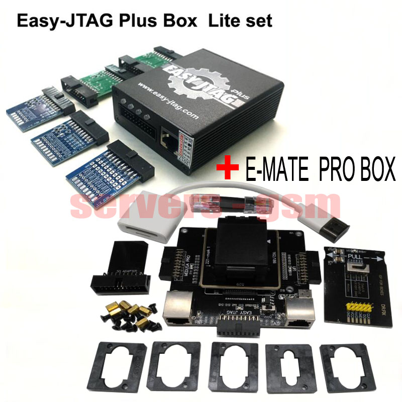 2019 Original Newest Easy Jtag Plus Box New E-mate Box Emate Pro Box E-socket Emmc Tool All In 1 Free Shipping Communication Equipments