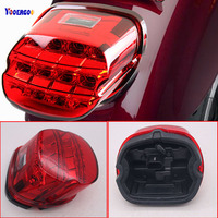 Motorcycle Accessories LED Brake Tail Light Harley Sportster 883 1200 XL Electra Glide FLHT FLHTCI Parts Rear License Plate Lamp