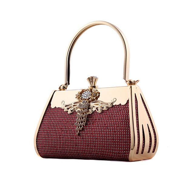 Mulheres tote sacos cadeia de luxo mini diamante elegante nupcial weeding festa à noite garras de ouro bolsa de ombro bolsa saco do mensageiro 446 t