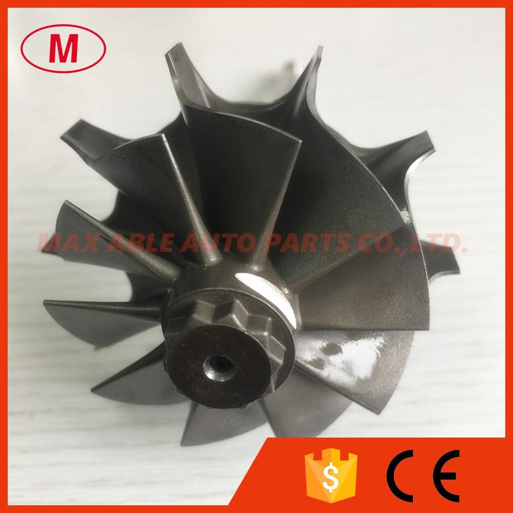 CT26 17201 17040 48 60mm 10 blades turbo turbine shaft wheel turbo wheel