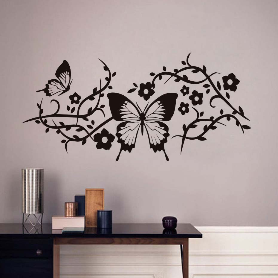 Buy dctop beautiful butterflies wall - Beautiful wall stickers for living room ...