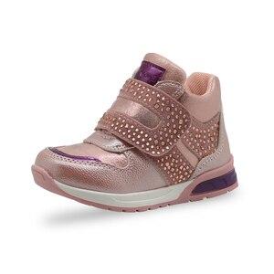 Image 3 - Apakowa Girls Fashion Rhinestone Ankle Boots Toddler Baby Soft Spring Shoes for Girls Party Outdoor Walking Anti slip Footwear