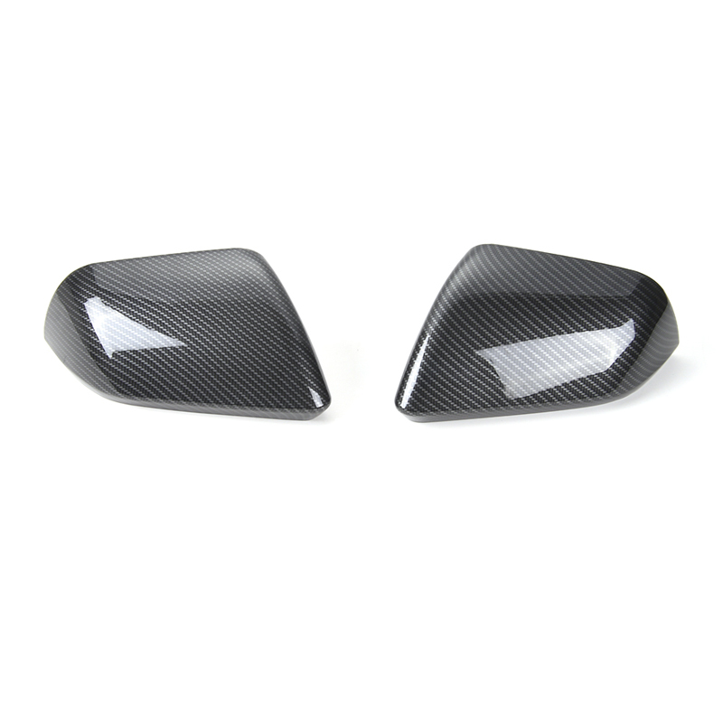 SHINEKA Car Styling Carbon Fiber Rearview Mirror Cover Trim Side Mirror Frame Encase for Ford Mustang USA Standar 2015+