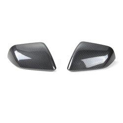SHINEKA samochód stylizacji z włókna węglowego ramka wykończeniowa na lusterko wsteczne boczne rama lustra wstawcie dla Ford Mustang stany zjednoczone standardowy 2015 +