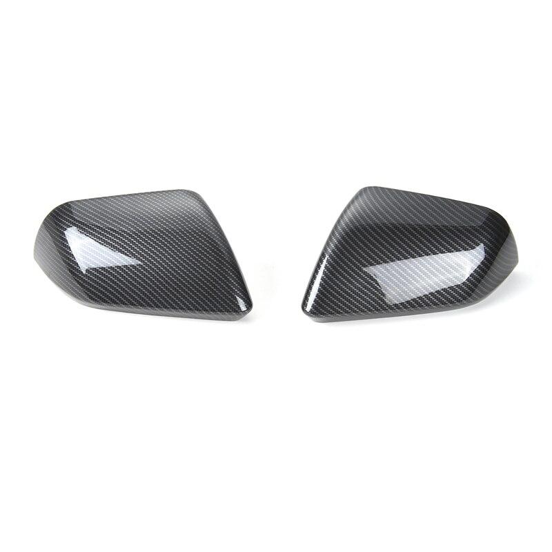 SHINEKA автомобильный Стайлинг из углеродного волокна зеркало заднего вида накладка боковое зеркало рамка Encase для Ford Mustang USA Standar 2015 +