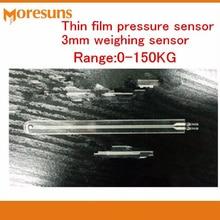Быстрая 0-150 кг тонкий датчик давления фильм 3 мм Датчик взвешивания PVDF150kg fsr сила чувствительный резистор