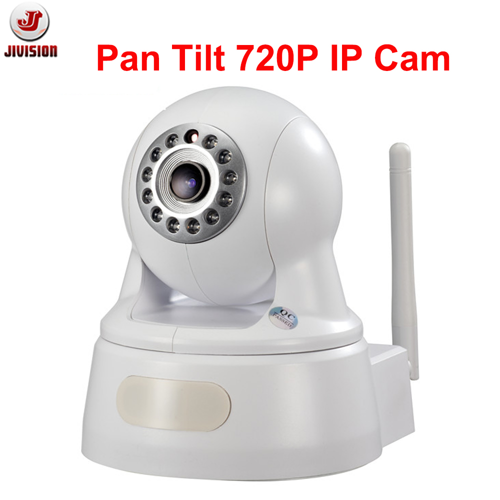 P2P ONVIF 1.0 Megapixel HD baby monitor IP camera with WIFI Pan/Tilt day and night SD card slot Wireless ip camera Home Kamera