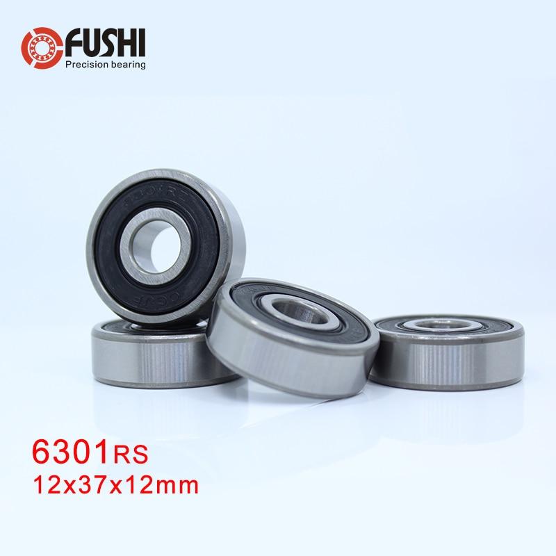 BLK 6301-2RS 12*37*12 12x37x12 mm Rubber Sealed Ball Bearings Lot 10 PCS
