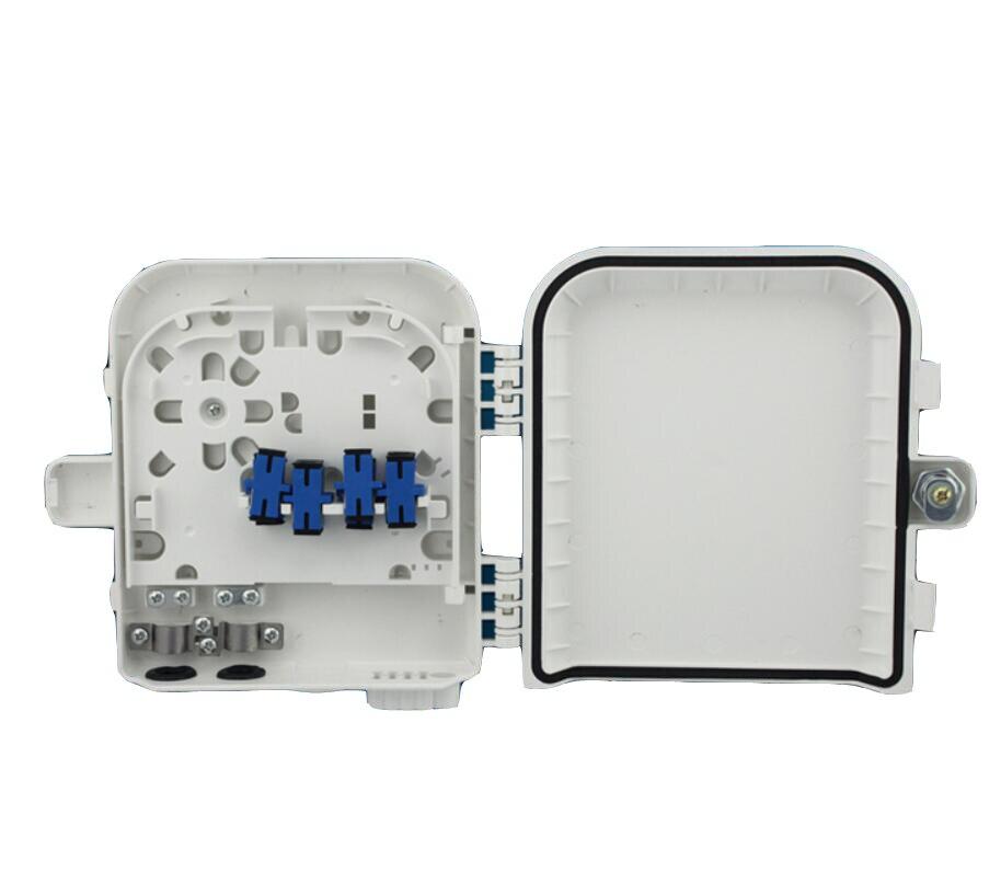 SC adapter Fiber Optic Termination Box 8port FTTH optical fiber distribution box FTTH Sub-fiber optical cable box Free shipping