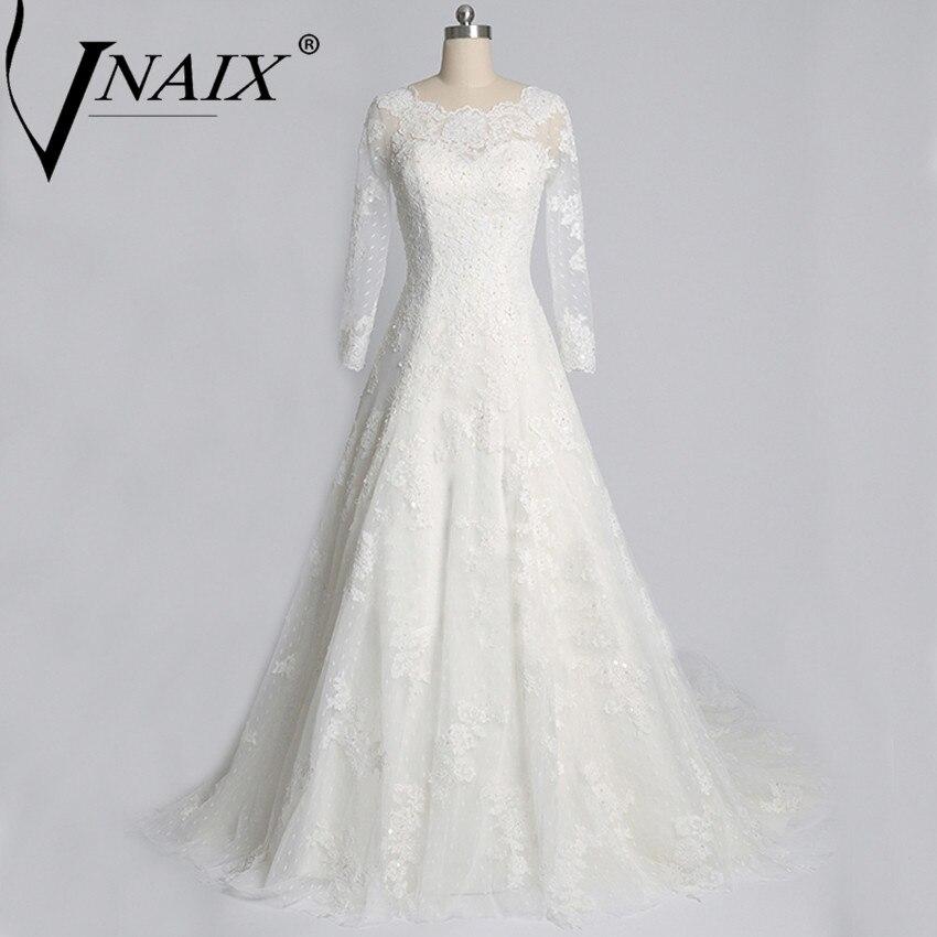 Discount 2016 Vintage Lace A Line Wedding Dresses Bateau: W8151 Custom Made Cheap Plus Size Bateau A Line Vintage
