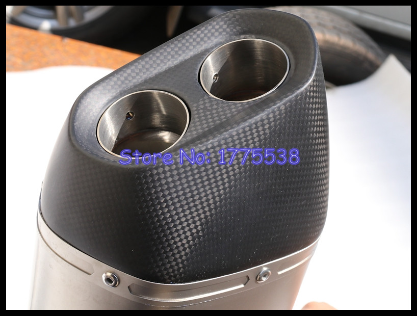 Carbon Fiber+304 Stainless Steel Motorbike Motorcycle Dual Exhaust Muffler Pipe Escape for R1200GS 2013 2014 2015 2016 2017 2018