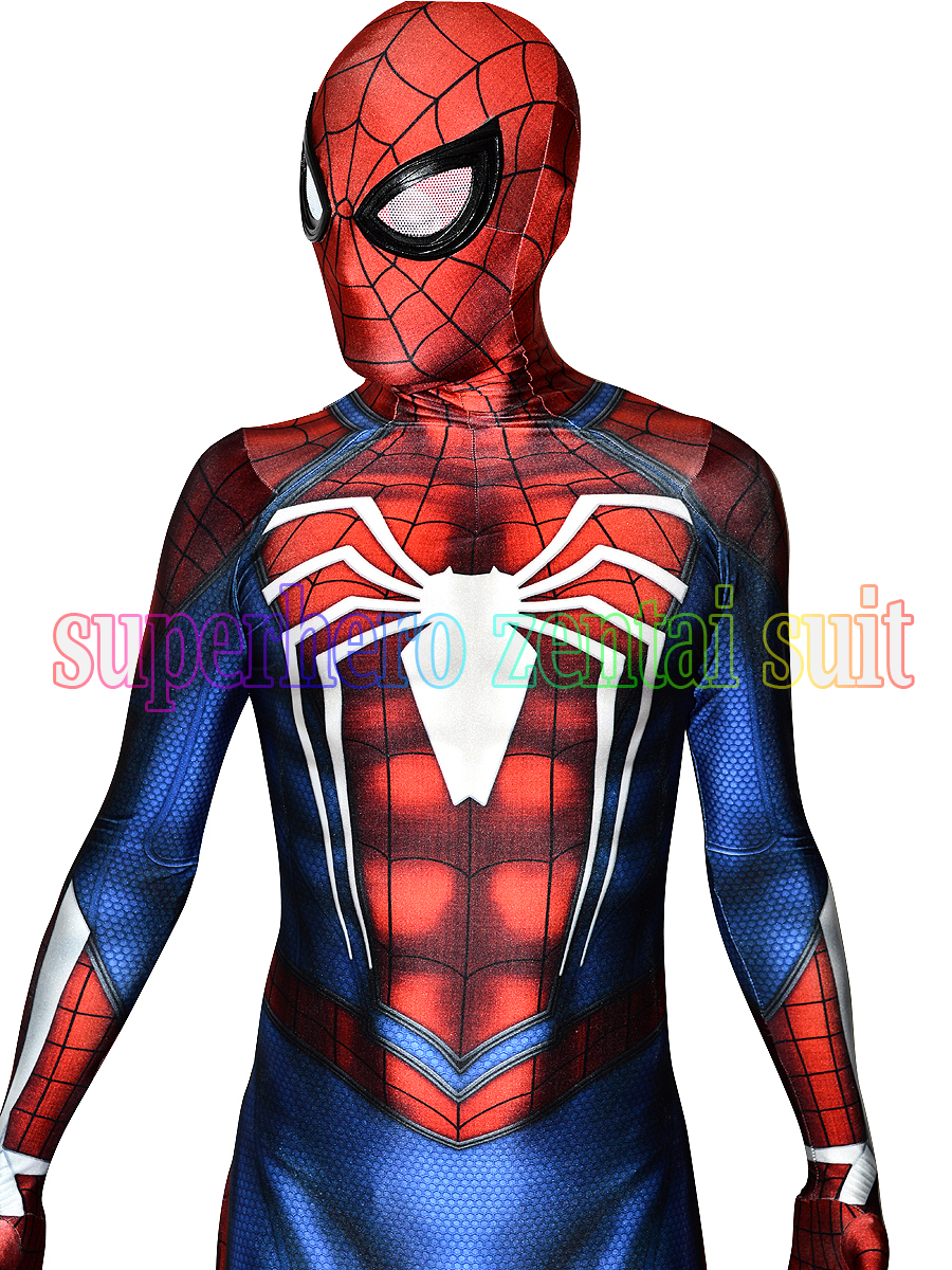 New PS4 Insomniac Spiderman Costume Game Spiderman Fullbody Zentai Suit For Adult/Kids/Custom Made Free Shipping