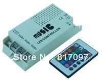 DC12 24V 24 teclas IR Remote Control IR controlador remoto LED musica sonido RGB controlador Dimmer para LED RGB tiras y lampara