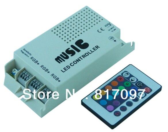 DC12-24V 24 teclas ir controle remoto ir controle remoto remoto led música sonido rgb controlador dimmer para led rgb tiras e lampara