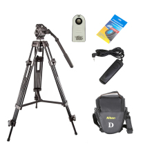 WEIFENG 1.3M Black Aluminum Alloy Pro Camera Tripod Kit + Cleaning Paper + Camera Bag + Shutter Release Cable for DSLR Camera