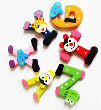 Children Kids 26 Wooden Alphabet Fridge Magnet Educational Study Toys(China)