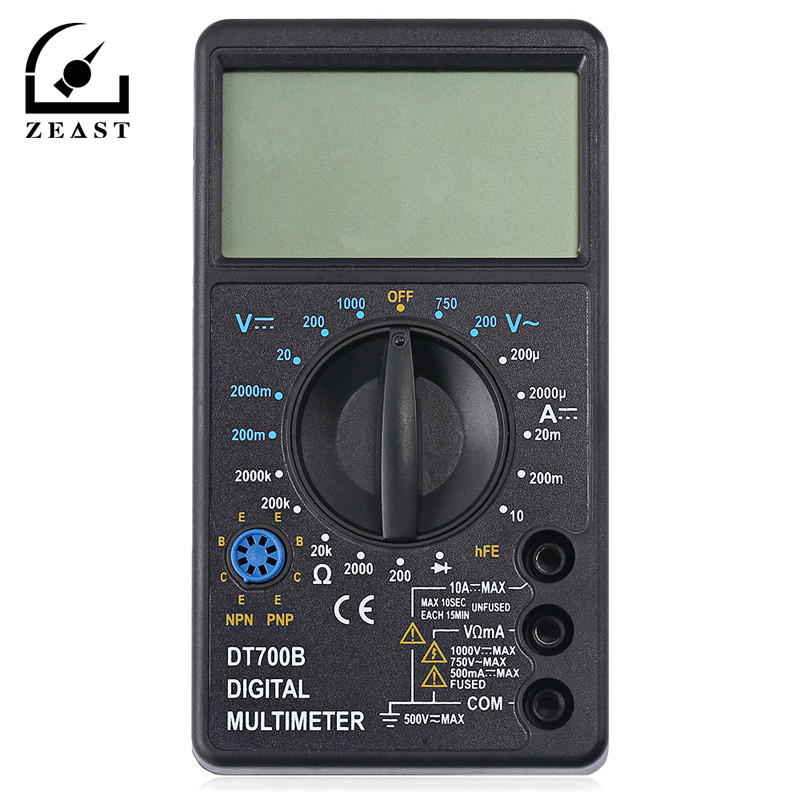 DT700B Digital Multimeter AC DC Voltmeter New Multimetro Voltage Current Resistance Tester For Electrical Multimeter Diode Test automotive multimeter test vehicle car battery dc ac voltage frequency resistance diode pen style tester