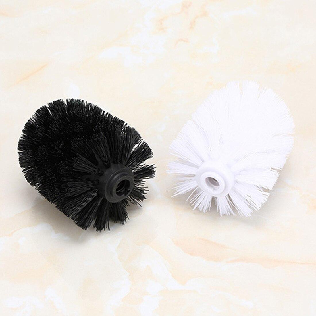 Universal Replacement Toilet Brush Head Holder White Black