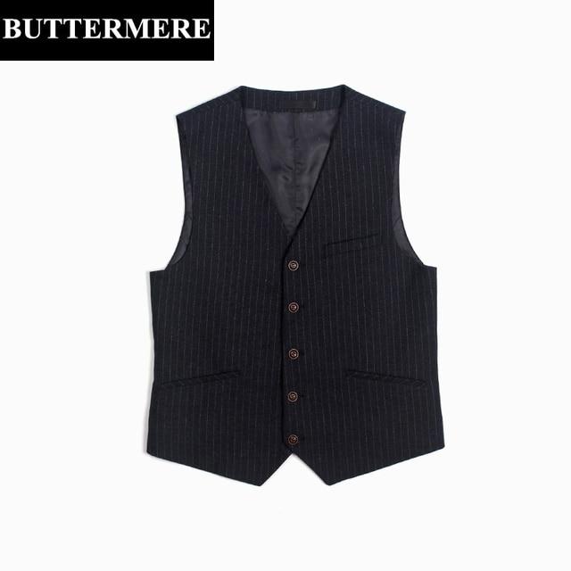 Listrado vest mens slim fit estilo inglaterra vintage suit vest colete sem mangas blazer terno do casamento negócios roupas casuais