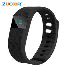 Bluetooth ЖК-дисплей Smart Band TW64 часы браслет Водонепроницаемый SmartBand Фитнес трекер PK miband для IOS Android-смартфон