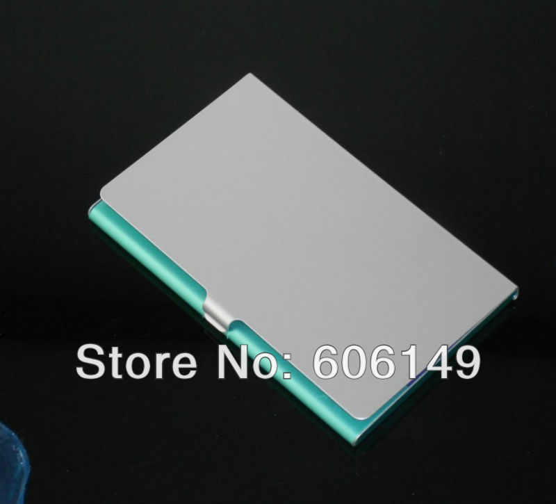 1200PCSX New Aluminum Business Name Credit ID Card Case Holder Easy to Carry Wholesale Free shipping