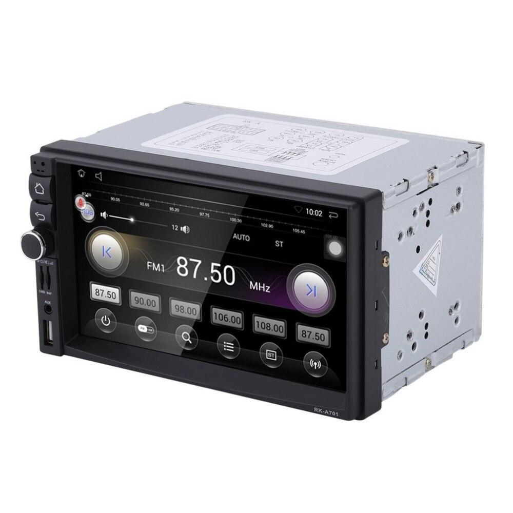 Автомобильный мультимедийный плеер 1024*600 емкостный HD Сенсорный экран Радио Стерео 16 г заднего вида Камера для Android Bluetooth WI-FI 3g