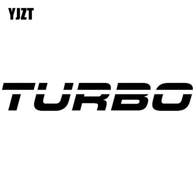 YJZT 13 CM * 1.9 CM Turbo Boost Decalque de Vinil Adesivo de Carro Preto Prata C10-00938