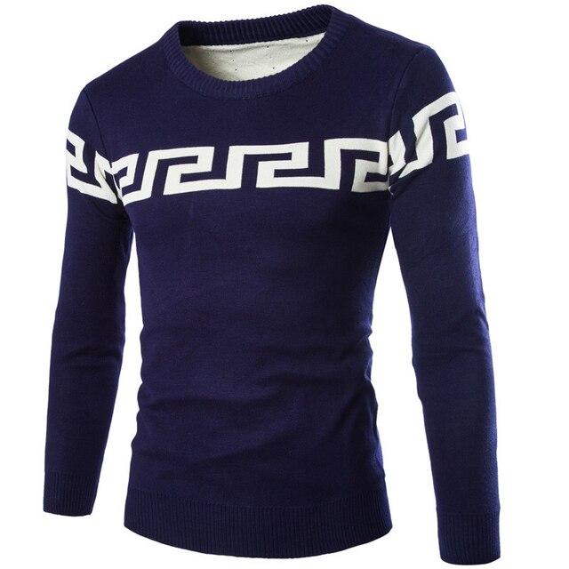 2015 осенью новые модели шею с длинными рукавами мужской свитер толщиной теплая двойной слой slim-типа пальто мужской одежды свитера