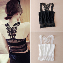 Lingerie Women Sexy Lace Padded Bra Crop Top Black White Vest Sleep Leisure Bralette Intimates Tank Drop ship