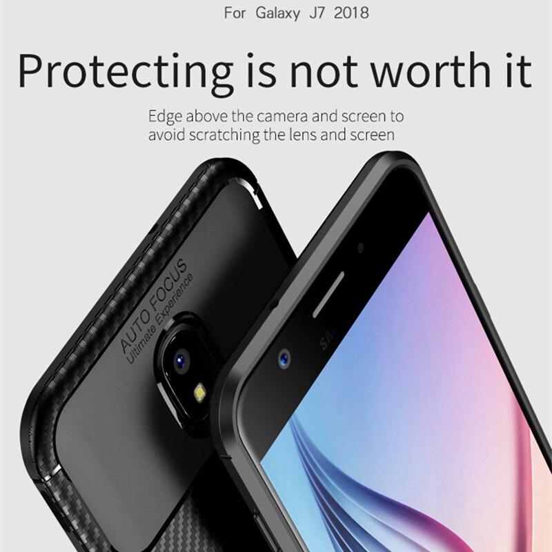 för Samsung J3 J4 2018 Väska IPAKY J6 J7 2018 Väska Silikon TPU - Reservdelar och tillbehör för mobiltelefoner - Foto 3