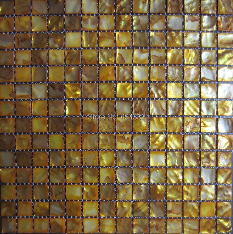 Online Kaufen Großhandel Gold Mosaik Fliesen Aus China Gold Mosaik ... Badezimmer Gold Mosaik