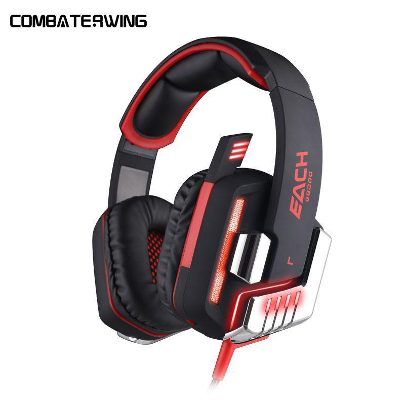 G8200 Game Headphone 7.1 Surround USB Vibration Gaming Headset Headband Earphone with Microphone LED Light for Laptop Gamer xiberia k9 usb surround stereo gaming headphone with microphone mic pc gamer led breath light headband game headset for lol cf