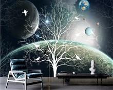 beibehang Mural 3d papier peint mural Wallpaper roll custom abstract universe starry theme papel de parede wallpaper